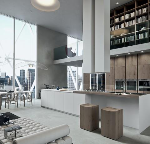 Arredamenti zattarin mobilificio falegnameria design - Ambientazioni cucine moderne ...